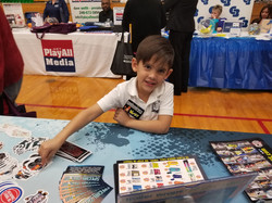 Wyatt Organizing our Expo Booth