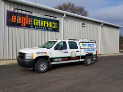 truck wrap generac sign shop vinyl