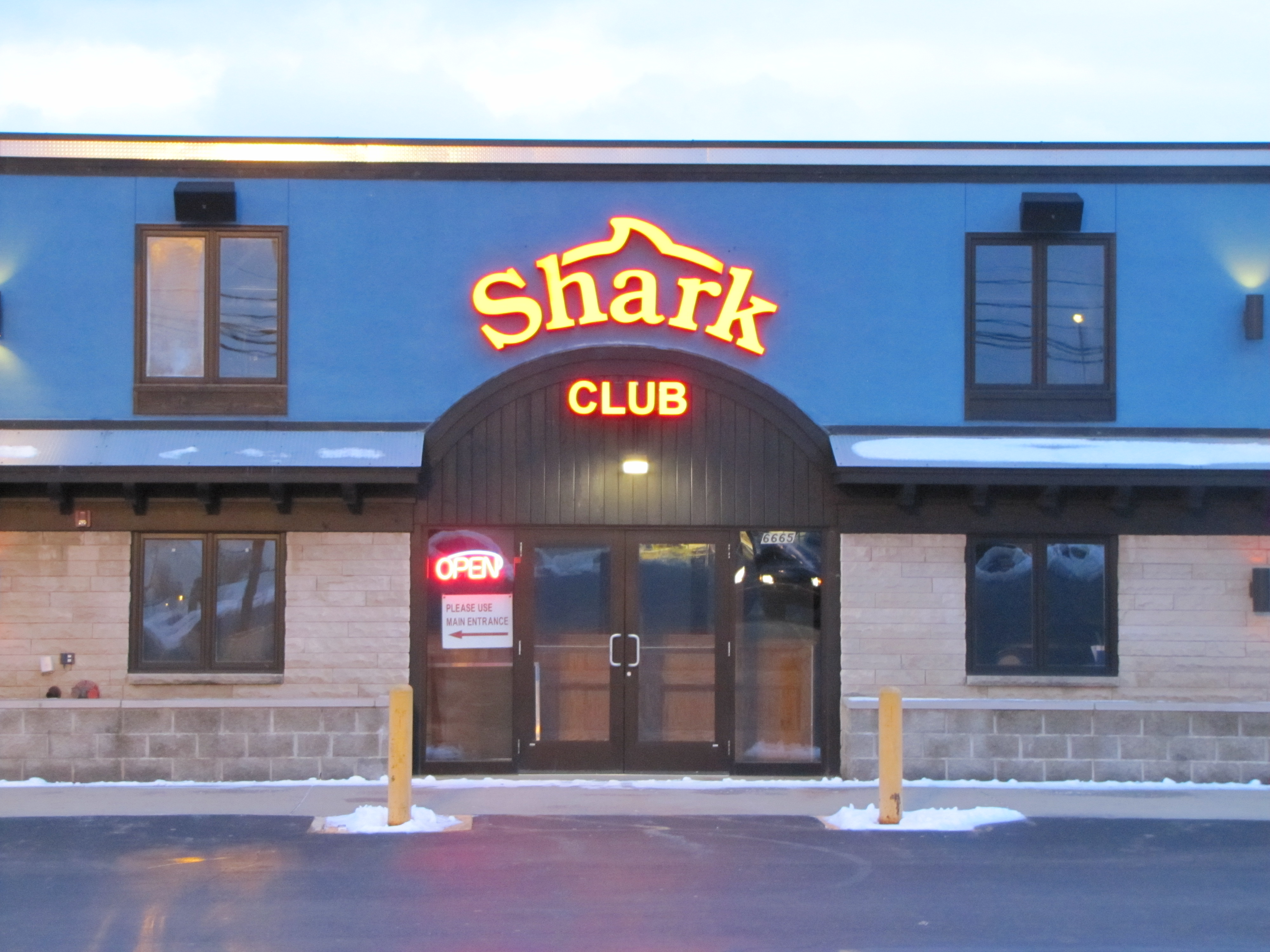 Shark Club Channel Letters