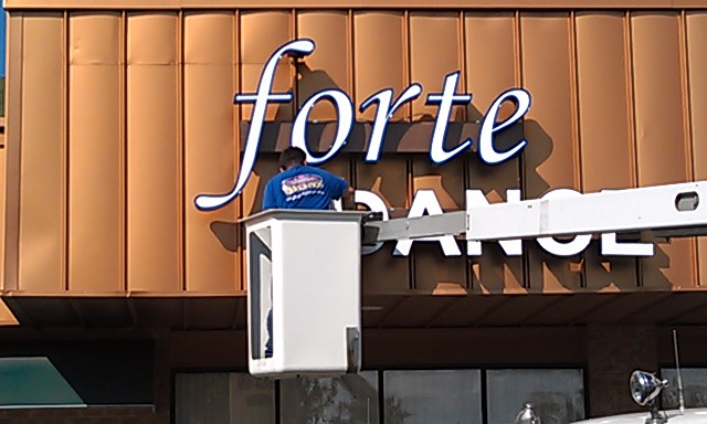 Forte Dance Channel Letter Sign LED