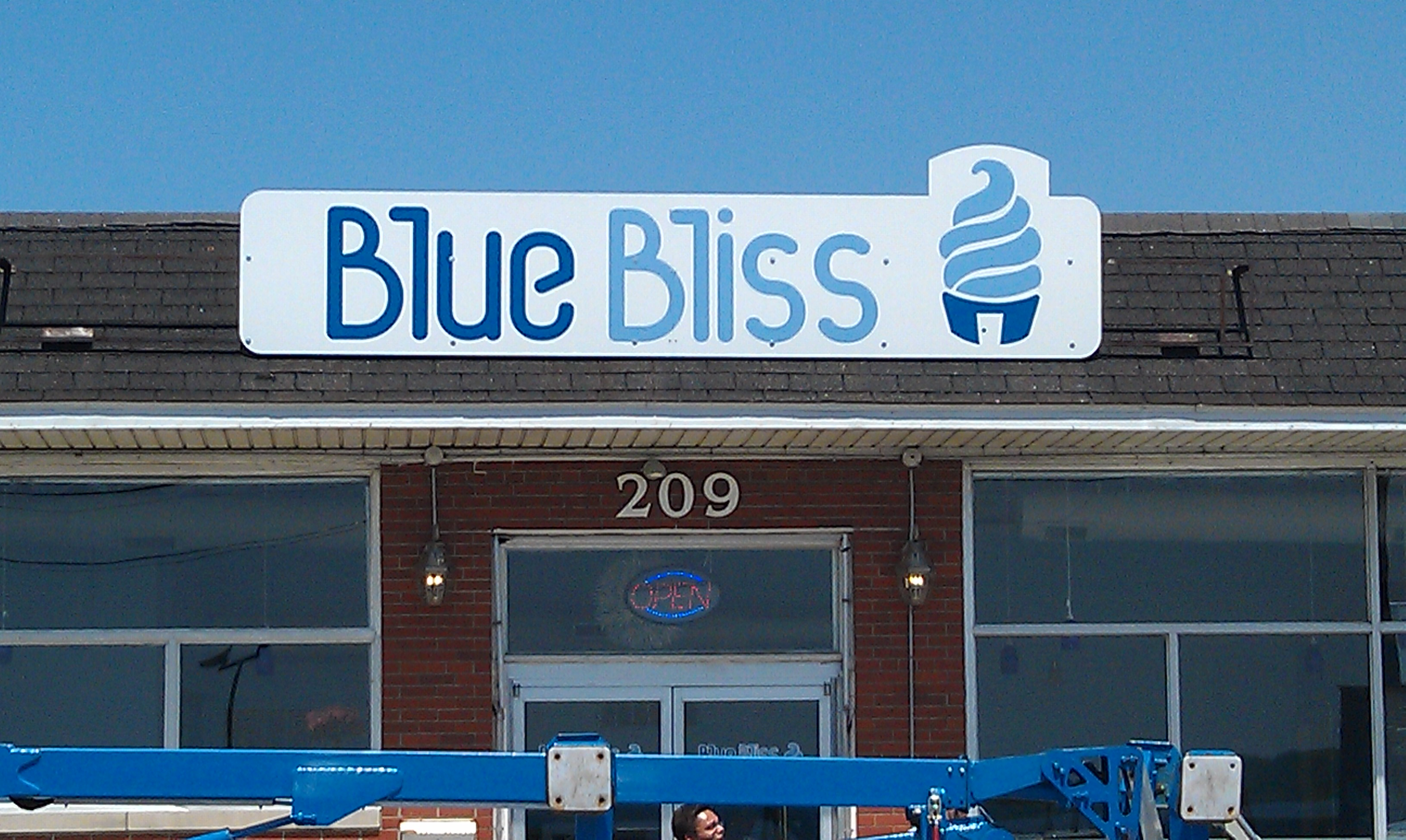 Blue Bliss Mansard Sign