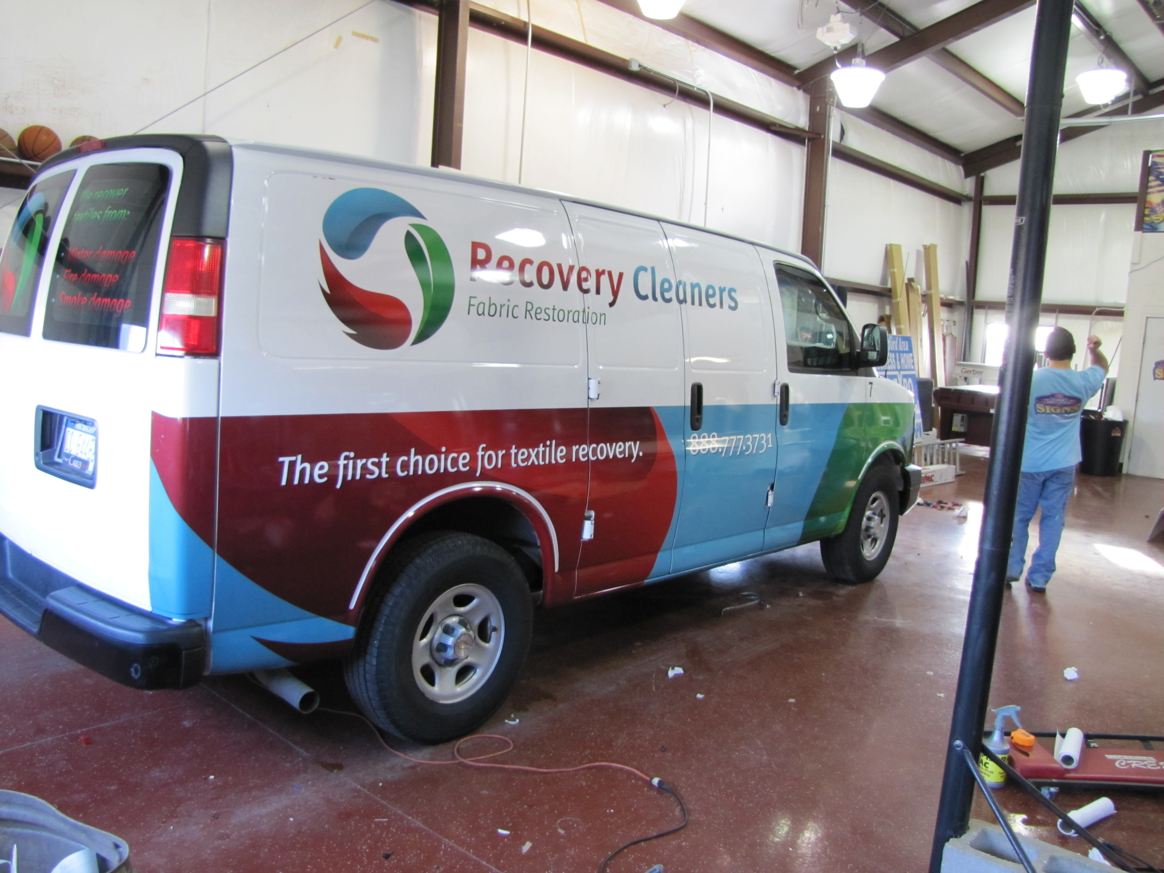 Recovery Cleaners Van Wrap