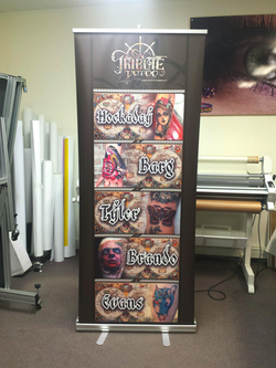 Tribute Tattoo Retractable Banner