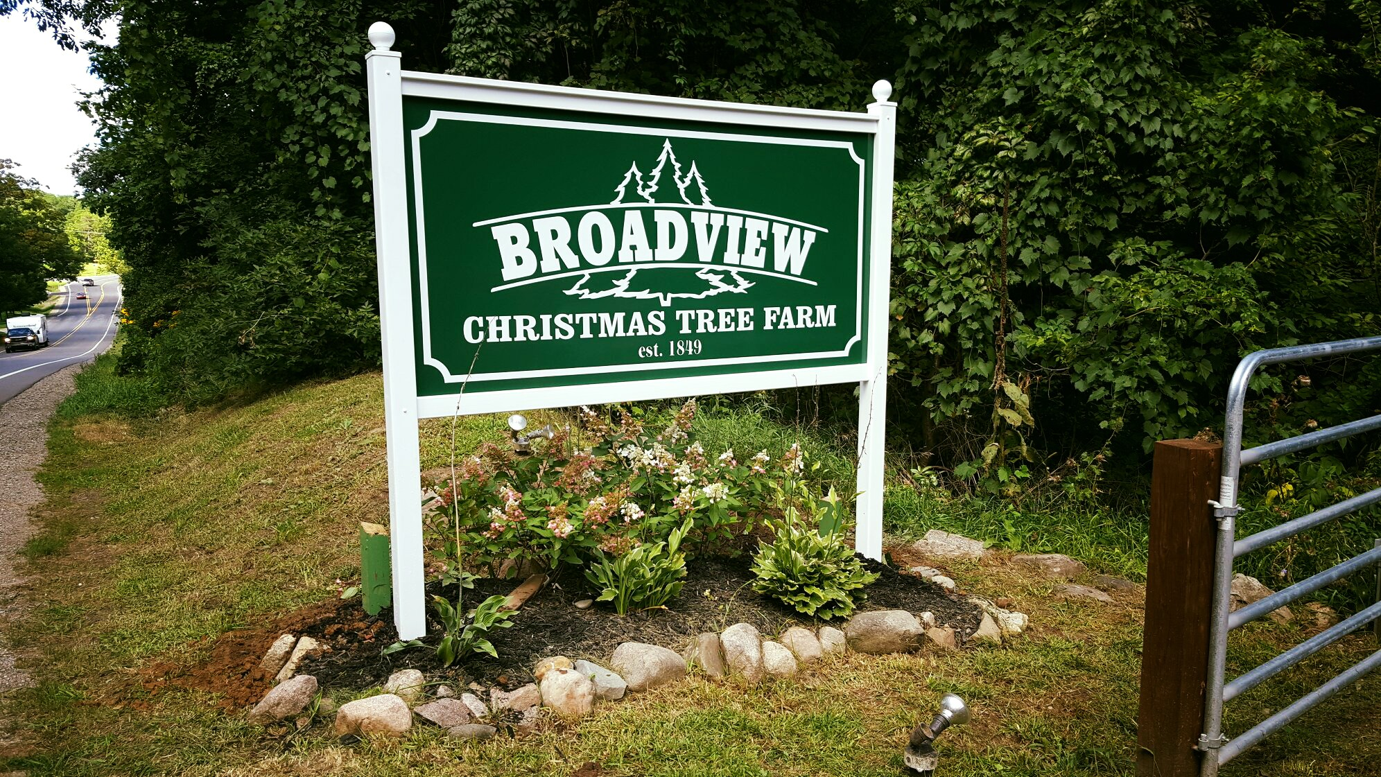 Broadview Christmas Tree Sign