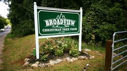 Broadview Christmas Tree Sign