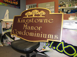 Kingstowne Manor CNC Routed Signs