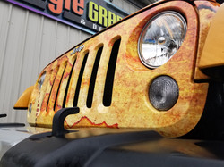 Jeep Grille Wrap Skull Island Camp