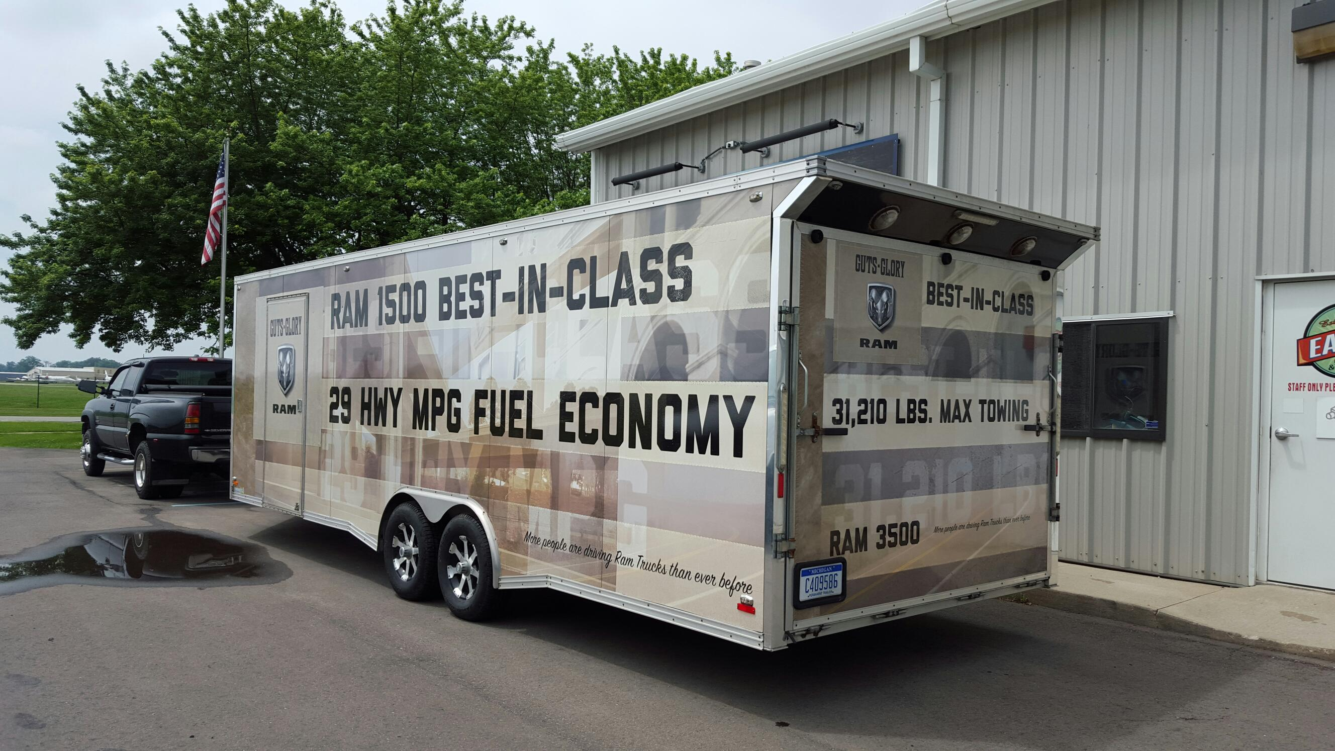Trailer Vinyl Wrap Dodge Ram