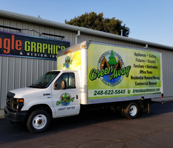 Vinyl Box Truck Wrap for Green Away