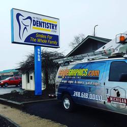 Hi Tech Dentistry Sign Faces