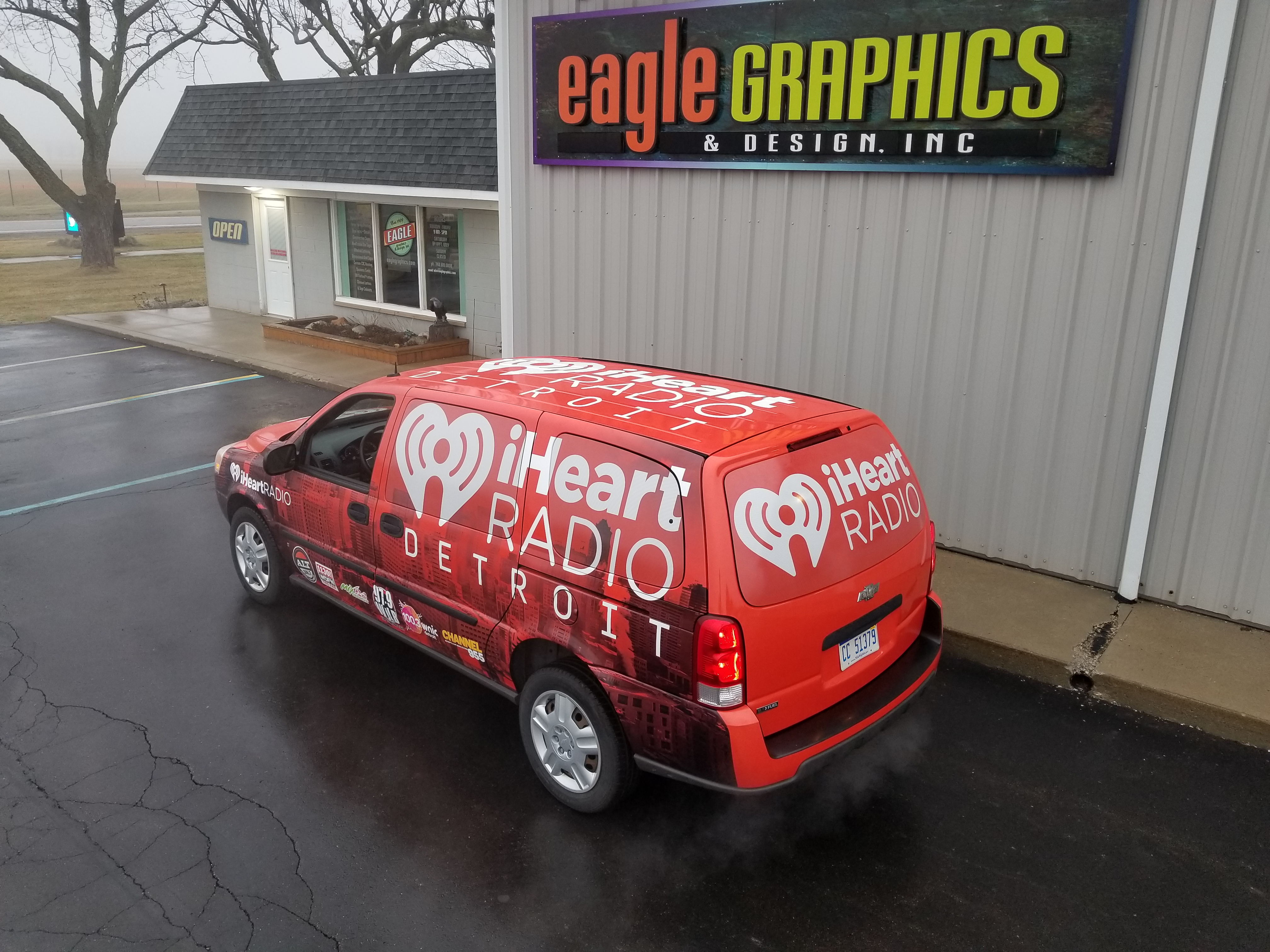 3m vinyl van wrap iheart signshop
