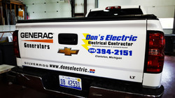 Don's Electric Tailgate Lettering