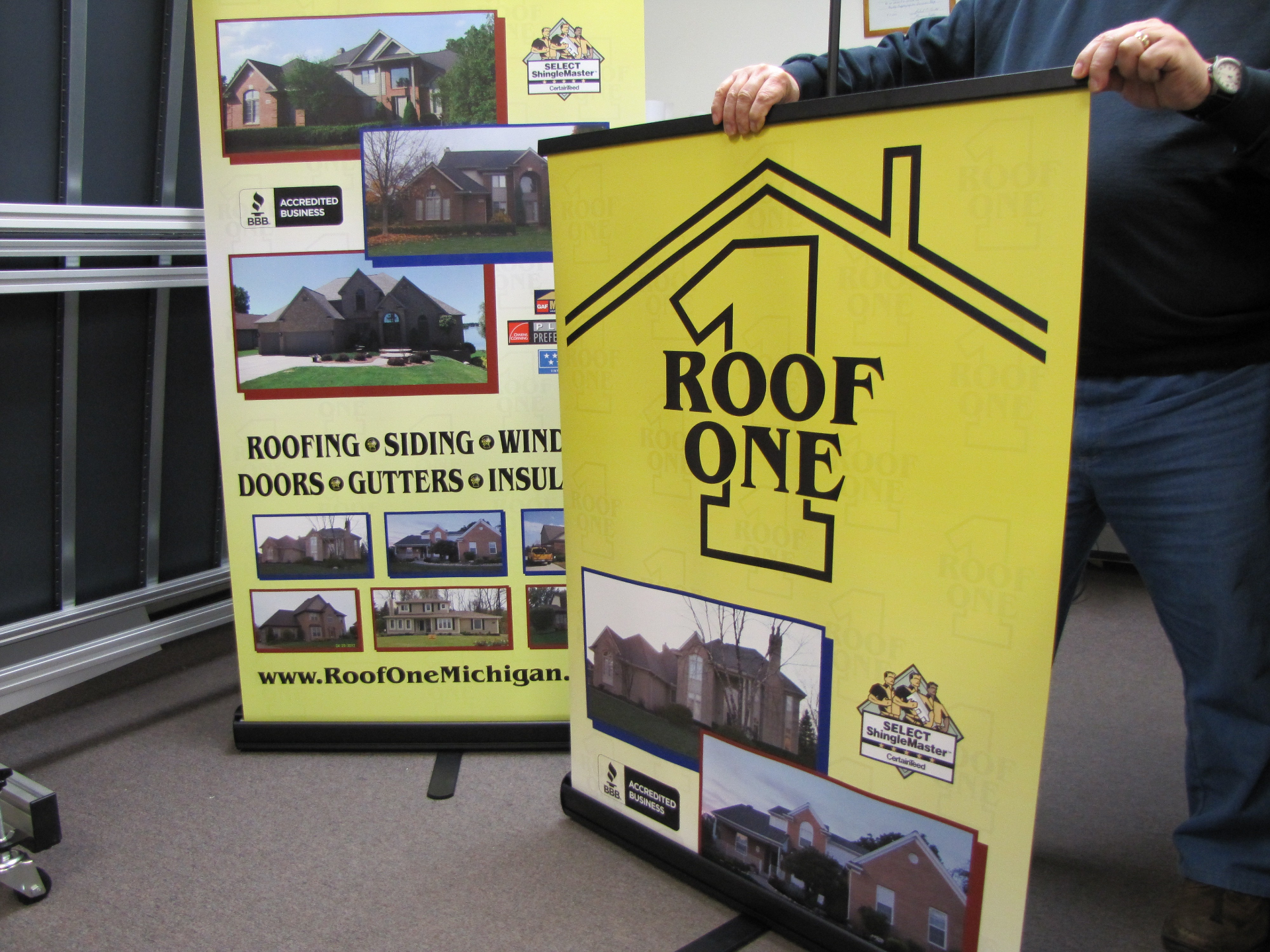 Roof One Retractable Banners