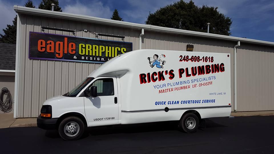 Box truck lettering spot wrap