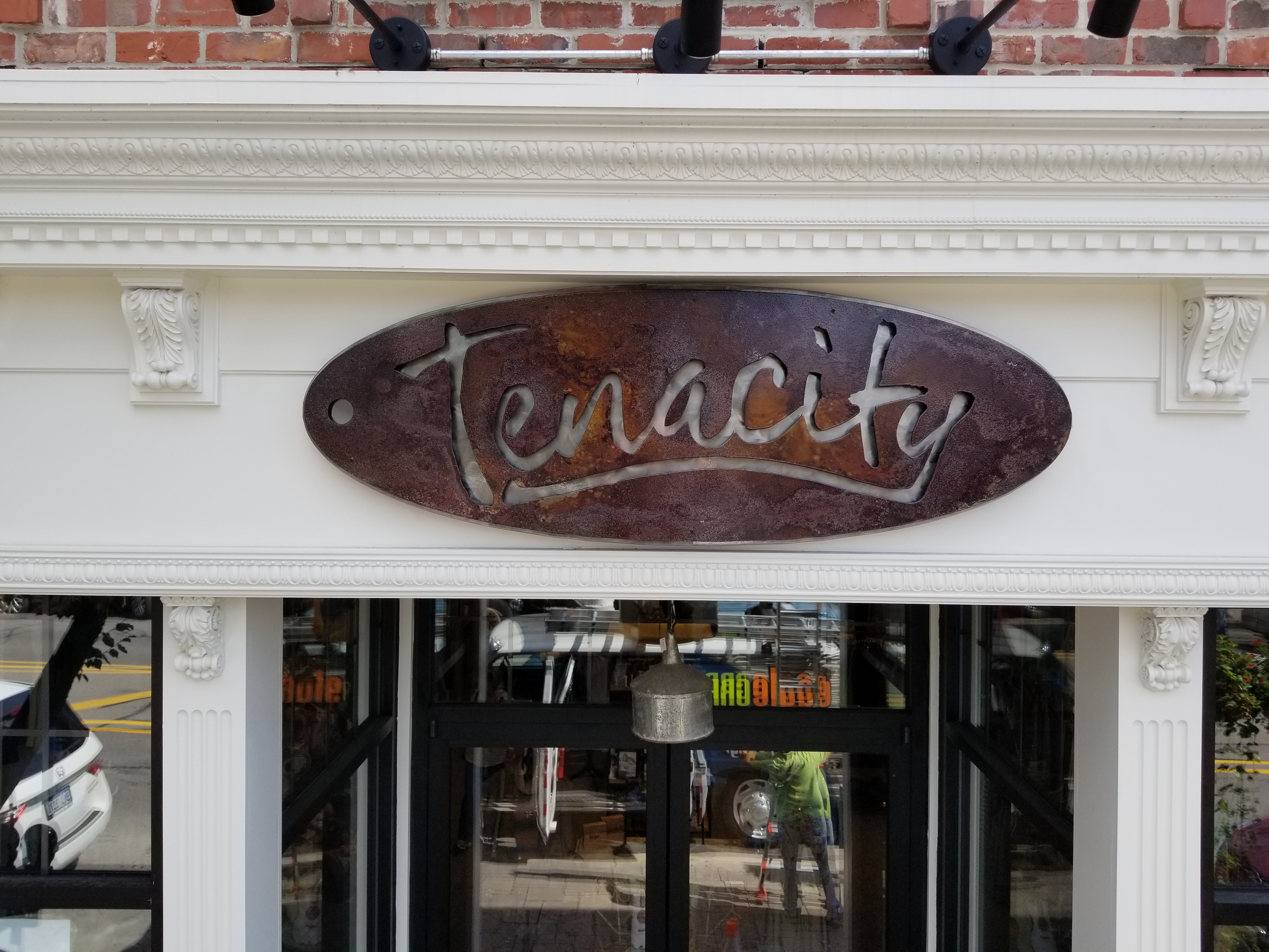 Sign Install for Tenacity
