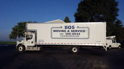 Box truck lettering spot wrap BOS