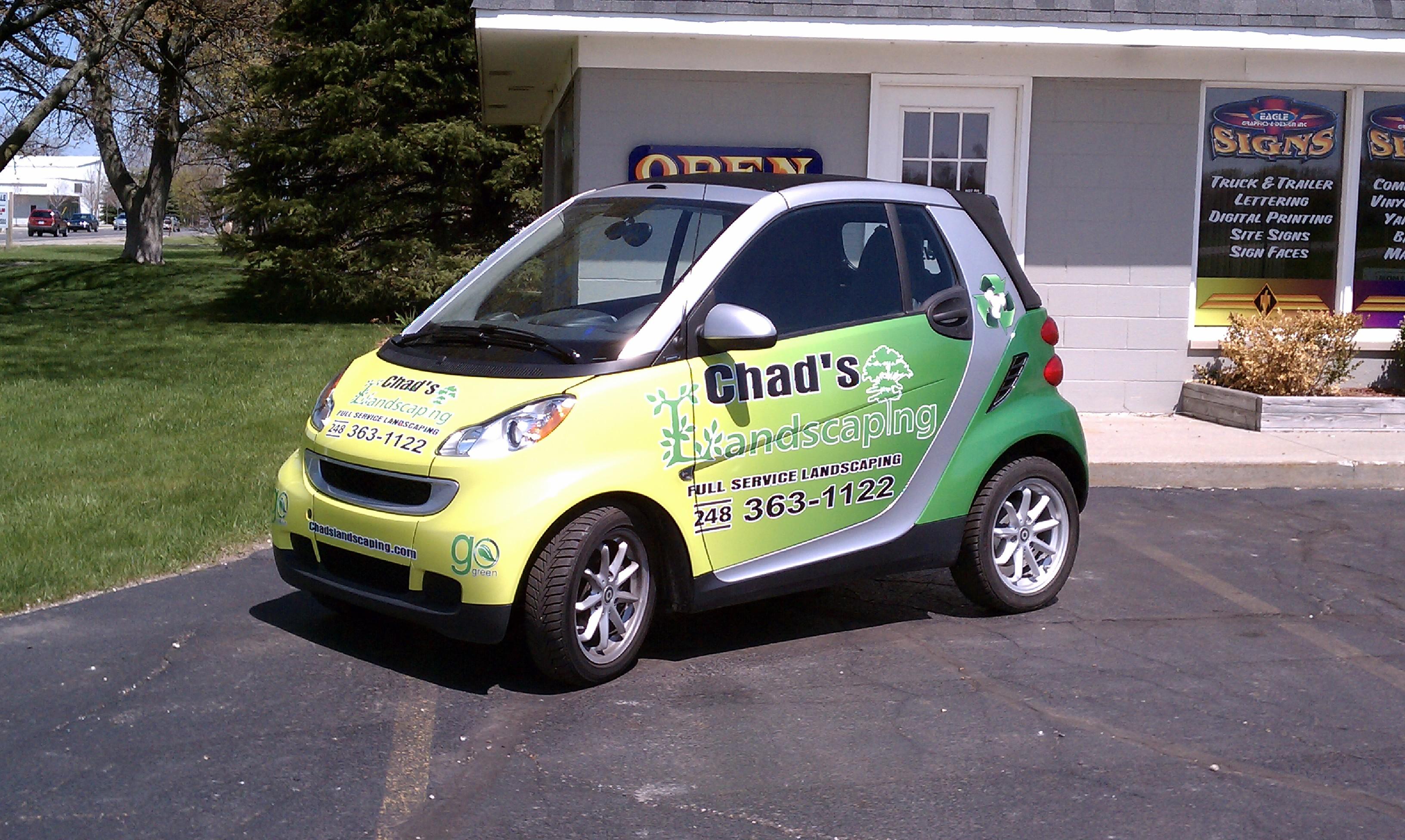 Chads Smart Car wrap vinyl wrap