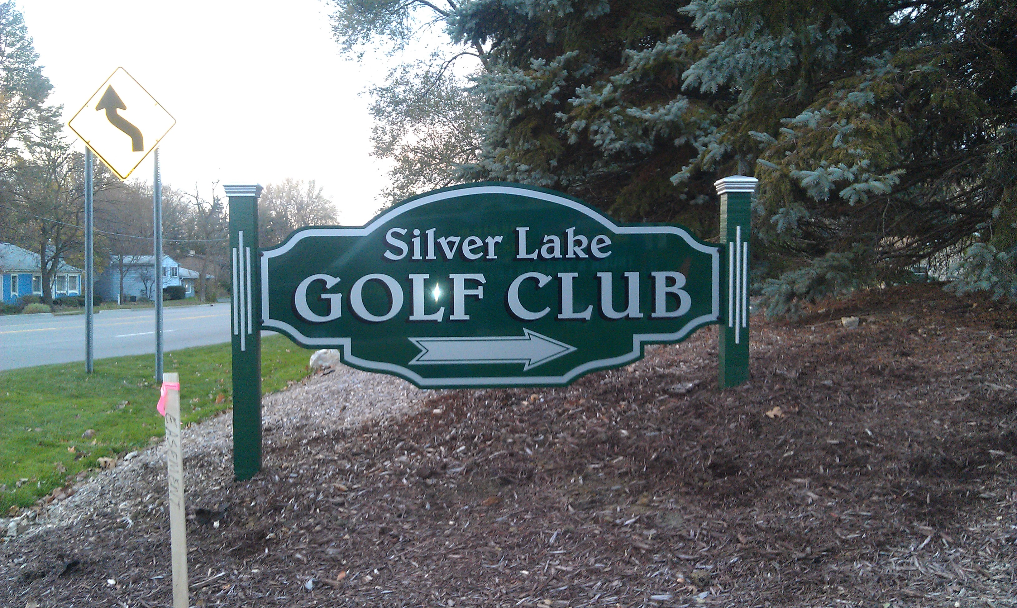 CNC Routed Golf Sign and Posts