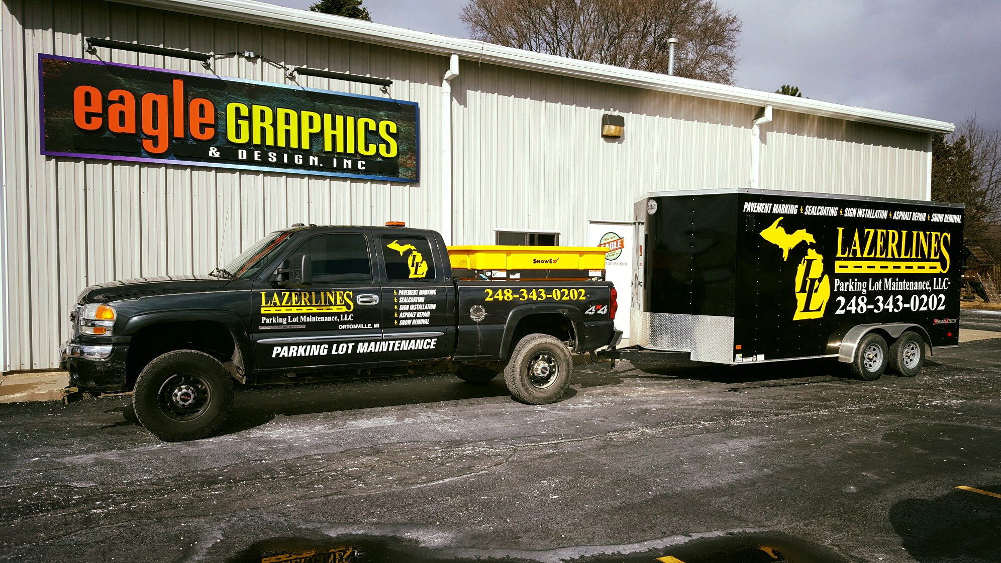 Lazerlines Truck and Trailer Wrap