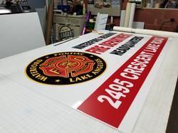 sign face signshop vinyl fire dept