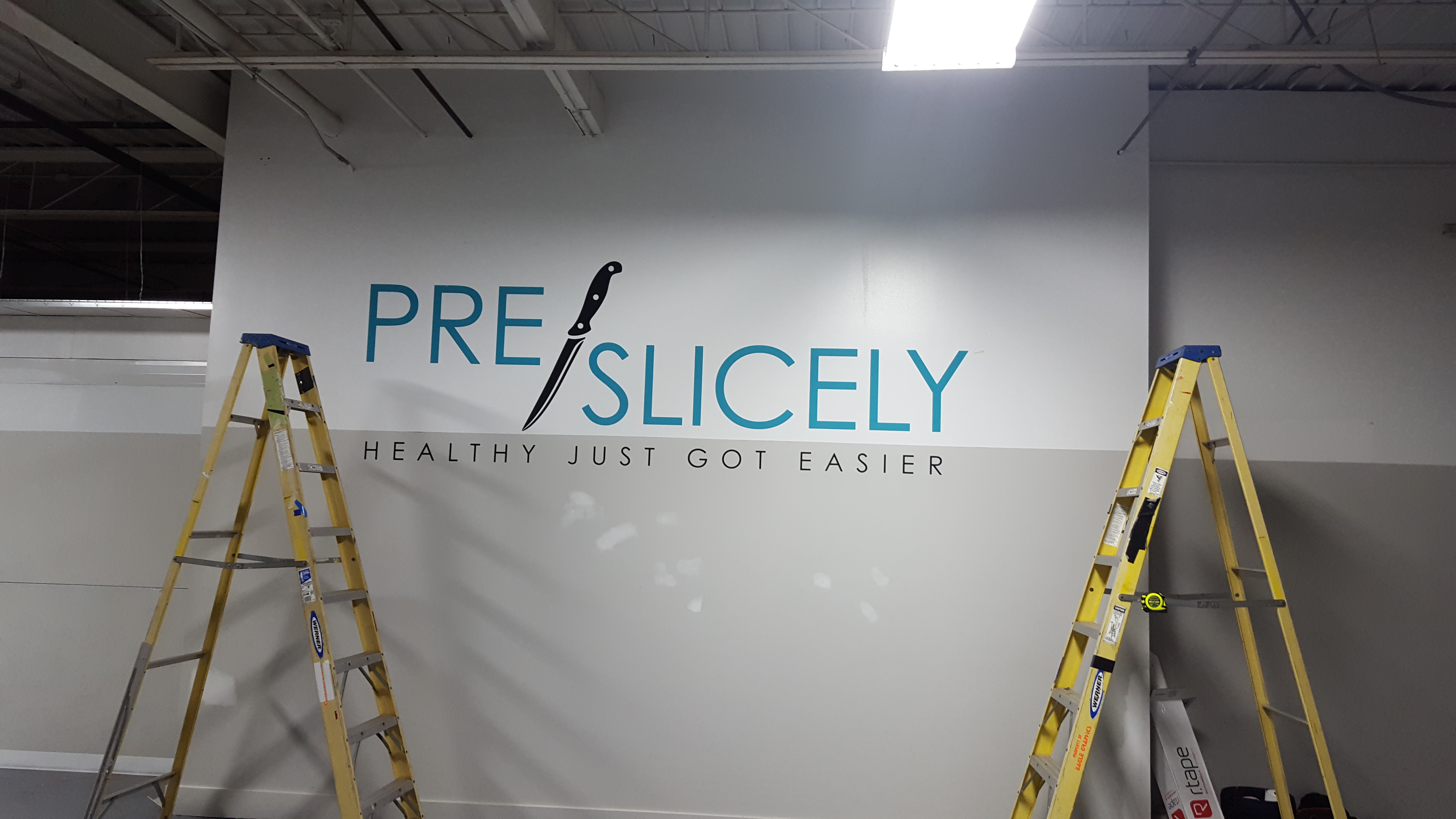 Vinyl Wall Logo Print and Install