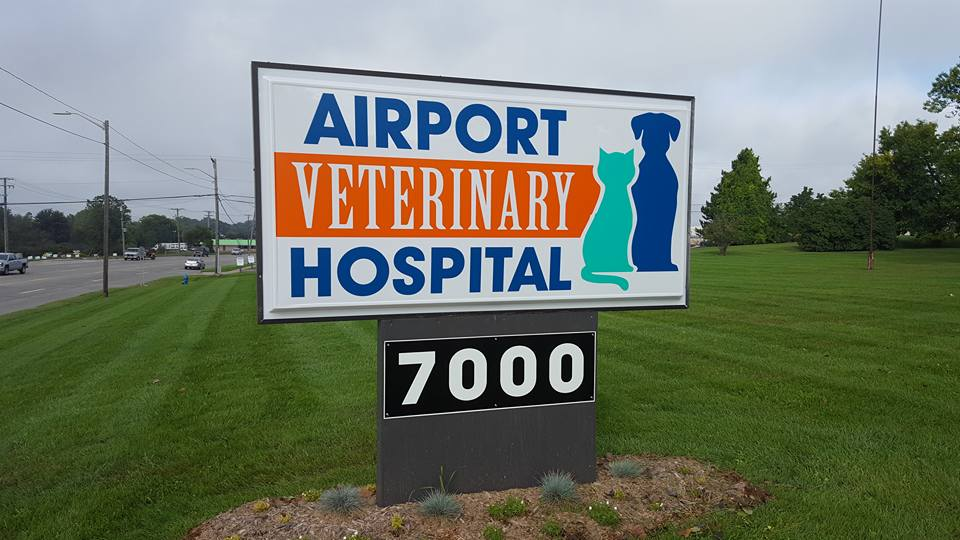 Airport Veterinary Pan Faces Sign