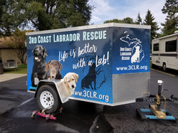 3rd Coast Lab Rescue Trailer wrap