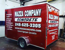 Trailer Vinyl Wrap Mazza Concrete