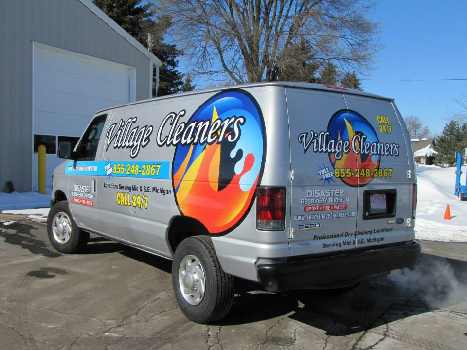 Village Cleaners Van wrap partial