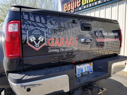 The Detroit Garage Ford F-350 wrap