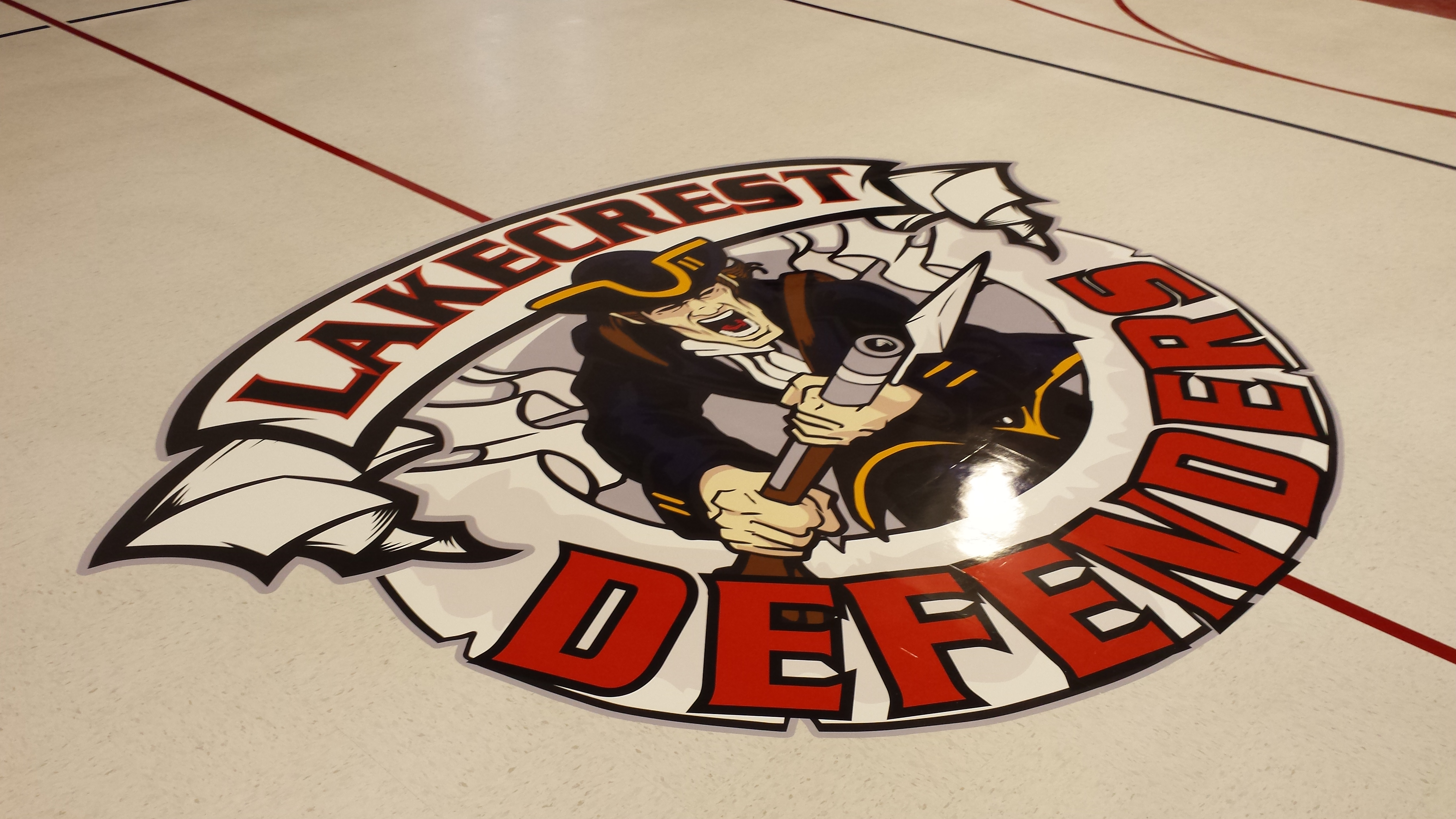 Custom Floor Gym Floor Graphic