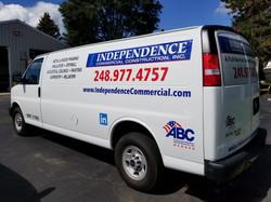 Van graphics for Independence