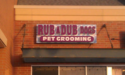 Rub A Dub Dogs Channel Letters