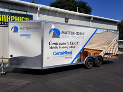 Trailer Wrap Matterhorn Cerntainteed