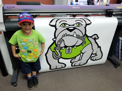 Wyatt likes the Scrap Dog Logo!