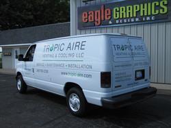 Tropic Aire Spot wrap lettering