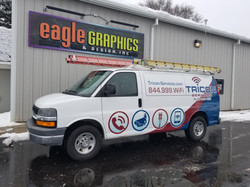 Tricon wrap Chevy Express Van