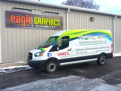 Tropic Air Partial van wrap