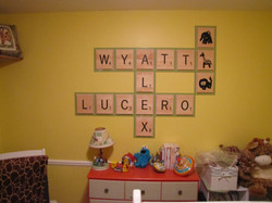 Custom Routed Scrabble Letters