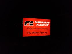 Milner Agency Farm Bureau Sign Faces