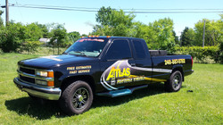 Atlas Asphalt Truck Wrap Color Chang