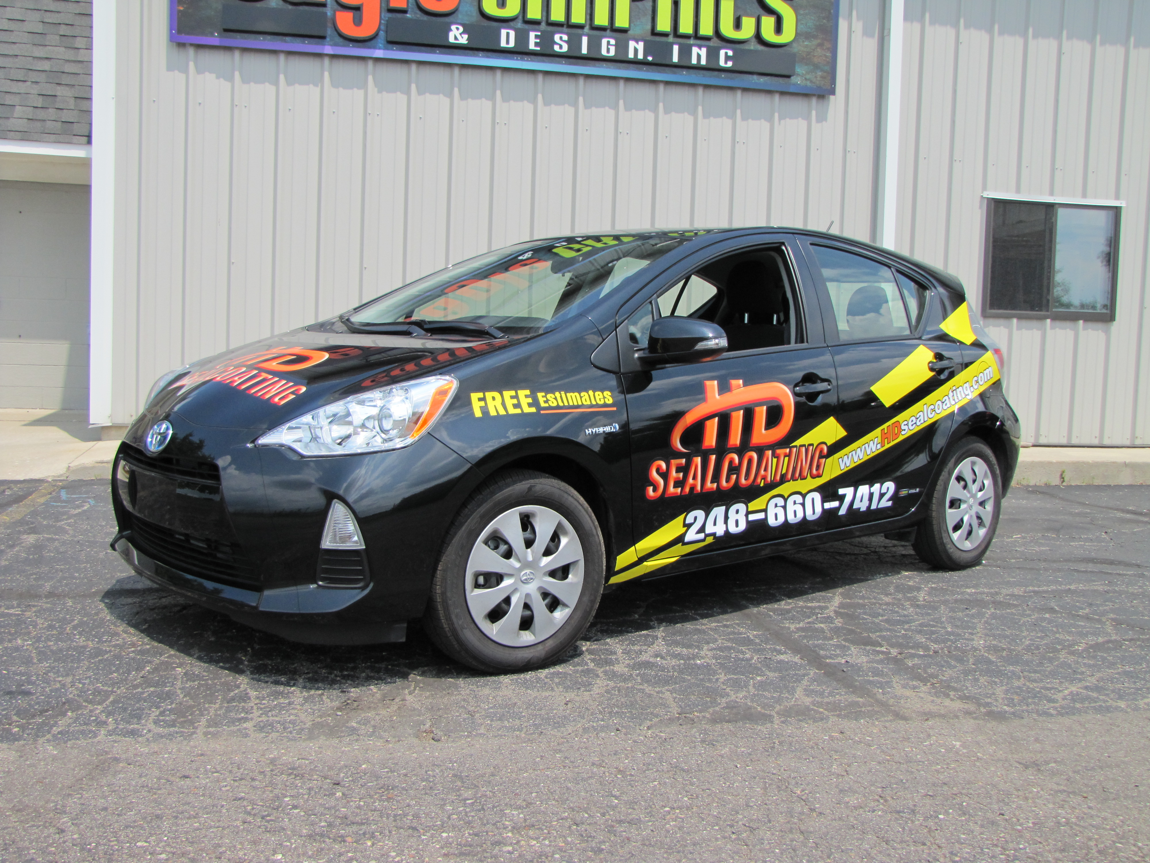 HD Sealcoating Prius partial wrap