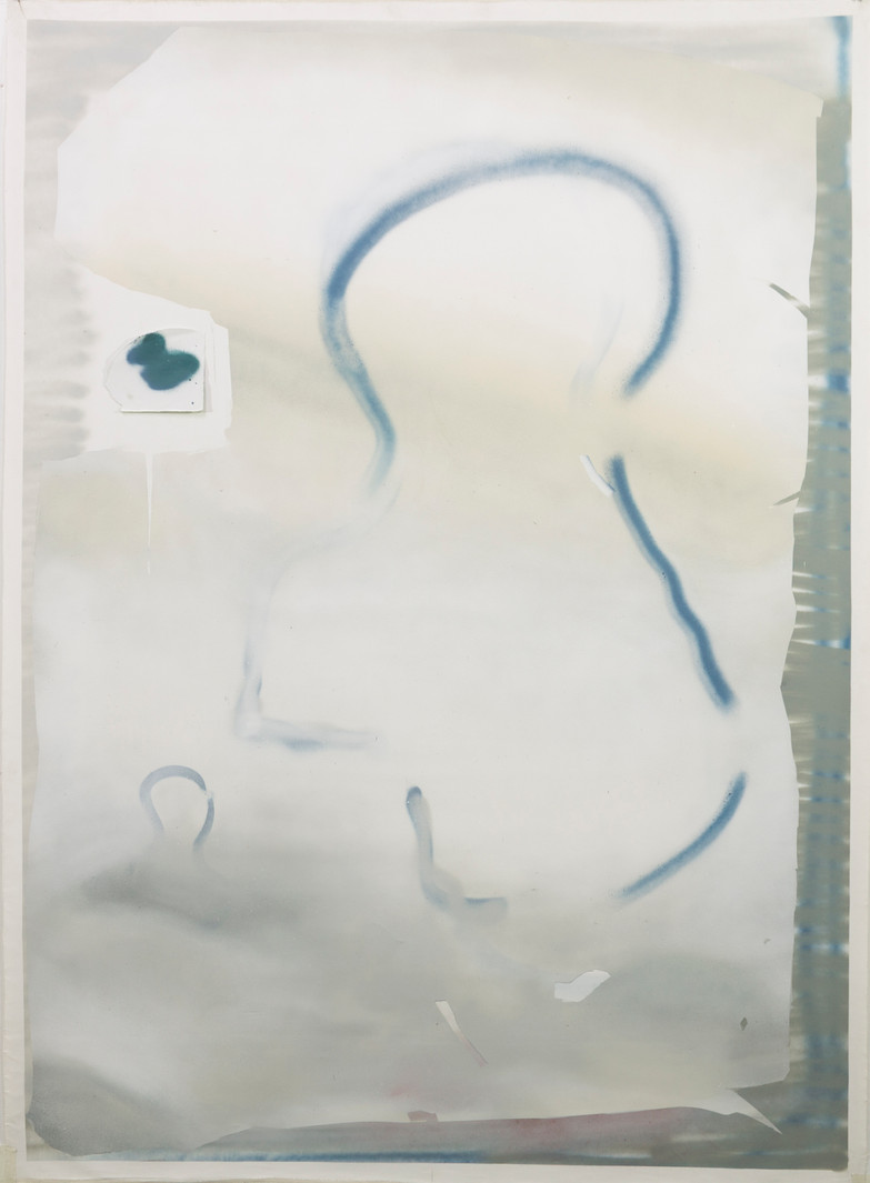 """Retrato equestre"". Esmalte sobre tela. 166x120cm 2018"