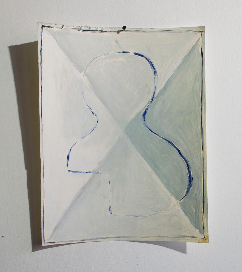 """""""Cóncavo y convexo"""". Óleo sobre papel. 32,7x25,5cm. 2018"""