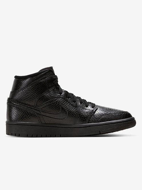 Jordan 1 Mid Black Snakeskin