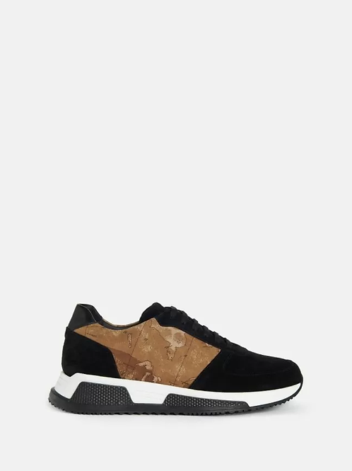 Sneakers Running in pelle scamosciata Nere