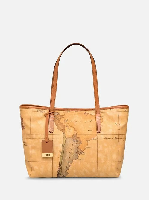 Geo Classic Borsa shopping media con bottone
