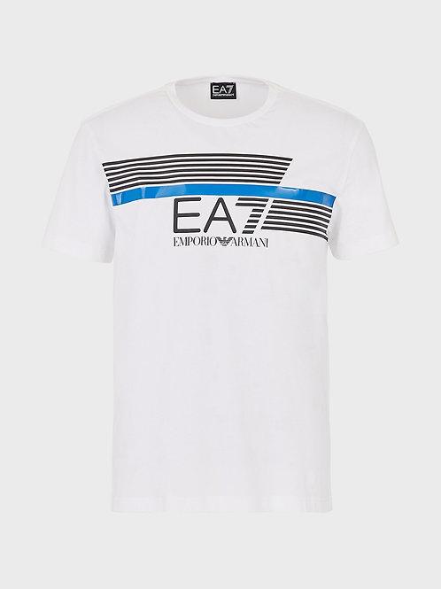 T-shirt in jersey con logo EA7