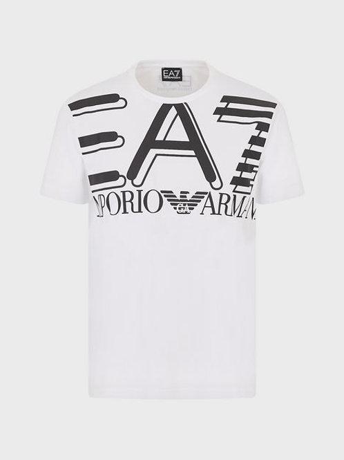 T-shirt in jersey con maxi-logo