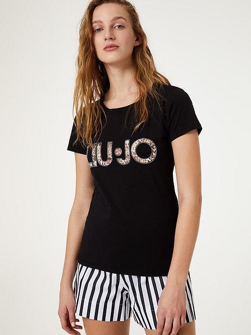 T-shirt Con Logo Animalier Liu Jo